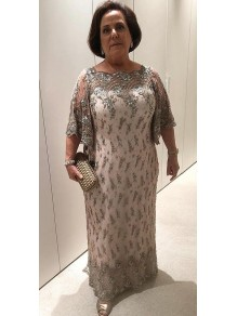 Beaded Lace Plus Size Mother of the Bride Dresses 99702006