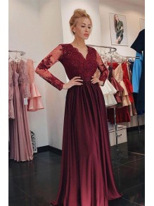 A-Line Long Sleeves Lace Mother of the Bride Dresses 99702007