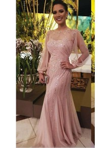 Long Sleeves Beaded Sequins Mother of the Bride Dresses 99702013