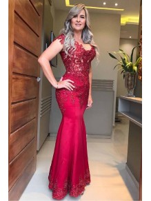 Mermaid Beaded Lace Long Mother of the Bride Dresses 99702037