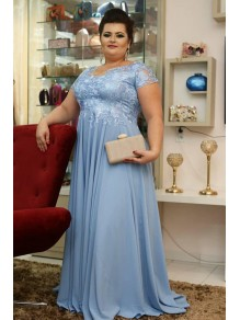 A-Line Chiffon Plus Size Mother of the Bride Dresses 99702042