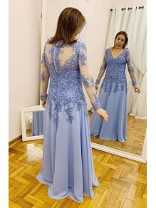 A-Line Long Sleeves Lace Mother of the Bride Dresses 99702044