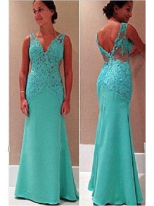 Mermaid Lace Floor Length Mother of the Bride Dresses 99702049
