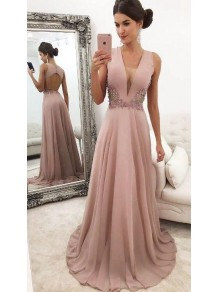 A-Line Beaded Lace V-Neck Mother of the Bride Dresses 99702050