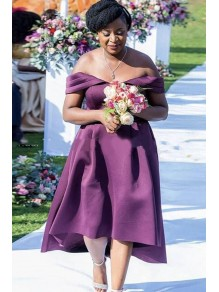 High Low Off-the-Shoulder Mother of the Bride Dresses 99702053