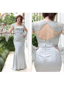 Mermaid Long Sleeves Lace Mother of the Bride Dresses 99702054