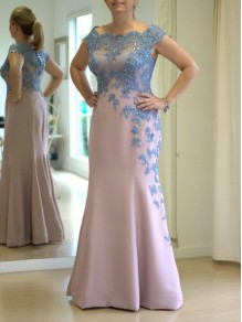 Mermaid Beaded Lace Appliques Mother of the Bride Dresses 99702062
