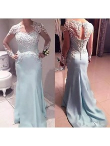 Long Sleeves Lace Mermaid Mother of the Bride Dresses 99702064
