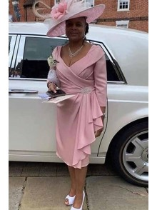 Short Pink Mother of the Bride Dresses 99702068