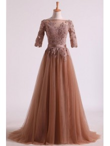 A-Line Lace Tulle Mother of the Bride Dresses 99702069