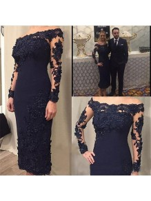 Long Sleeves Beaded Lace Mother of the Bride Dresses 99702071