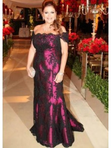 Long Lace Off-the-Shoulder Mother of the Bride Dresses 99702074