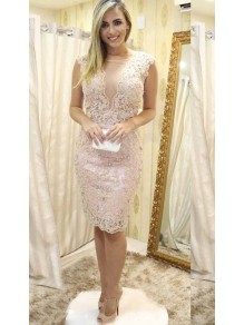 Short Beaded Lace Mother of the Bride Dresses 99702078