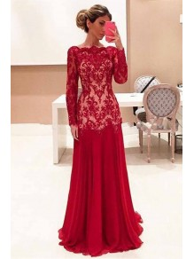 Long Sleeves Lace Mother of the Bride Dresses 99702079
