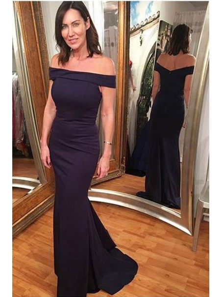Mermaid Off-the-Shoulder Long Mother of the Bride Dresses 99702092