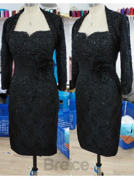 Elegant Knee Length / Short Lace Mother of The Bride Evening Dresses Wedding Guest Dresses 99801001