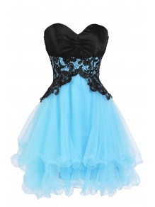 Hot Sale Short Black Blue Sweetheart Prom / Evening / Cocktail / Homecoming Dresses 99901074